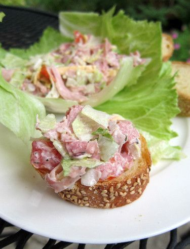 Hoagie Dip--not sure if this is the recipe I had but it was sooo yummy and tasted like I was eating an italian sub!