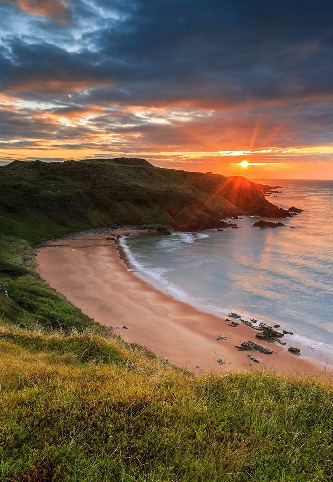 Hackley Bay at Sunrise on the Aberdeenshire coast, Scotland