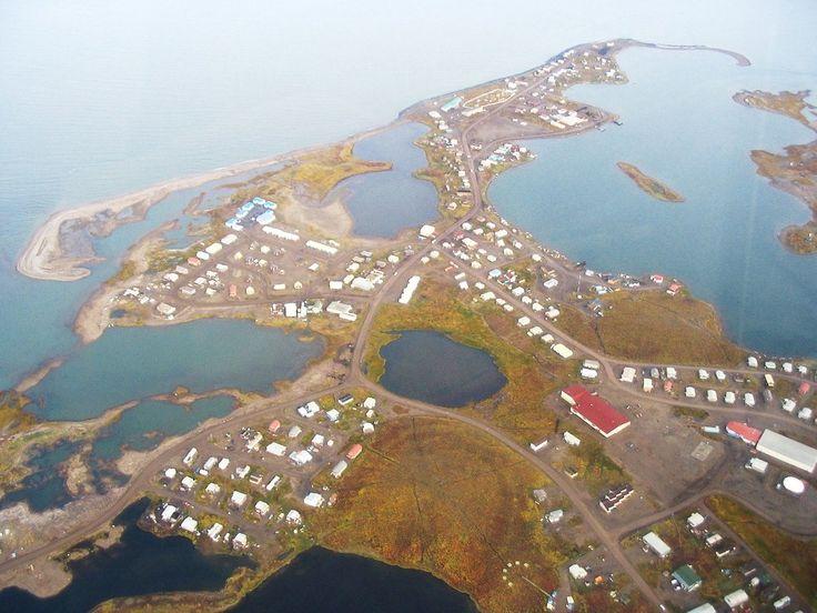 Tuktoyaktuk Village in the Arctic Ocean.