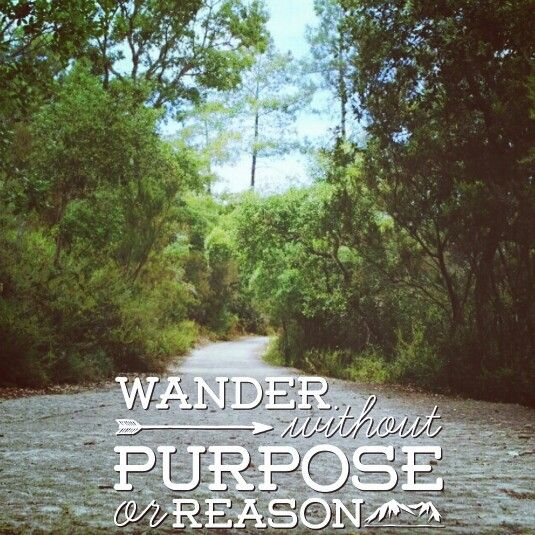 Wander without purpose or reason