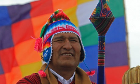 Bolivian president predicts era of peace and love instead of apocalypse    Evo Morales will mark the solstice by sailing across Lake Titicaca in one of the largest reed ships built in modern times