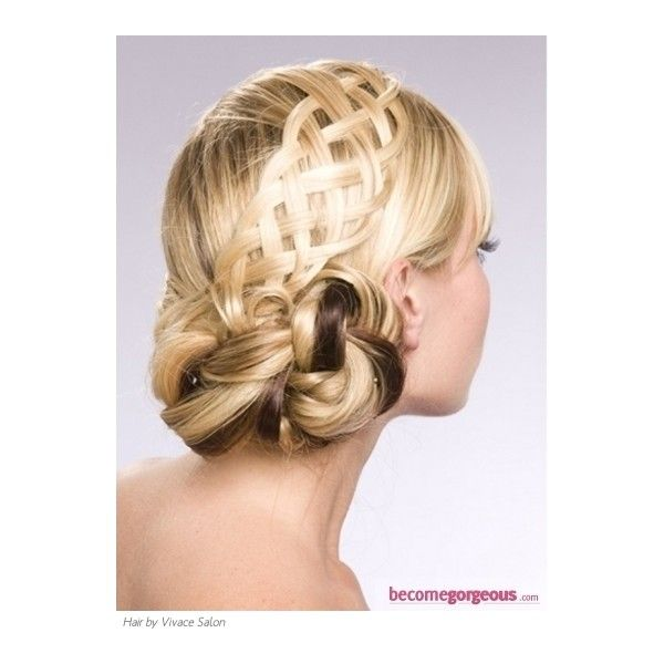 Flirty Braided Updo Hair Style - Prom and Homecoming Hairstyles Pictures found on Polyvore