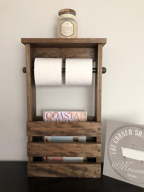 Bathroom Toilet Paper Holder Magazine Rack Combo Rustic Toilet Farmhouse Toilet Paper Holders Free Standing Toilet Paper Holder Bathroom Toilet Paper Holders