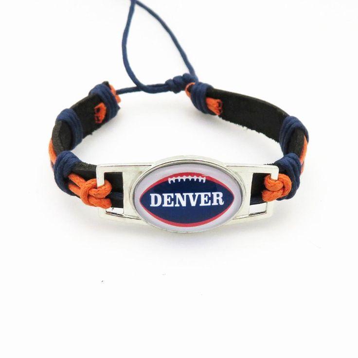 Denver NFL Football Bracelet