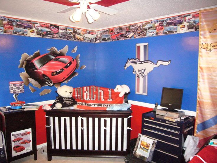 Ford Mustang Theme Baby Nursery Google Search Cory S Room Pinterest Ford Mustang And Nursery