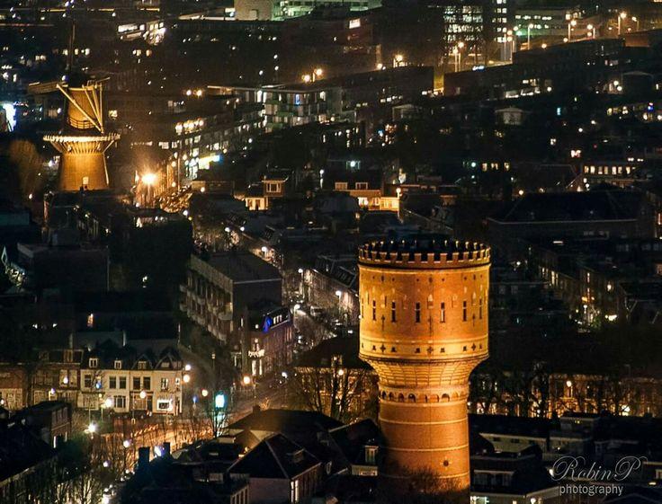 Nightview over Utrecht