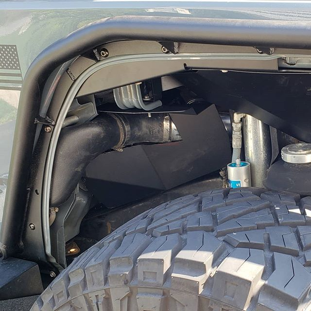 Metalcloak Overline Fenders And Inner Fender Liners Can Coexist With The Ruggedridge Modular Snorkel System Period Proof Jeep Jeepjk Jeepwrangler 3 D