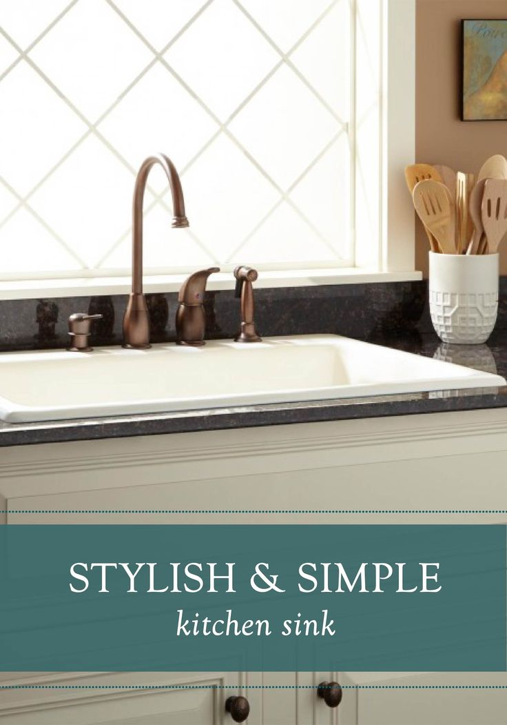 Simple And Stylish This Drop In Kitchen Sink Combines Both Function And Style With Its Durable