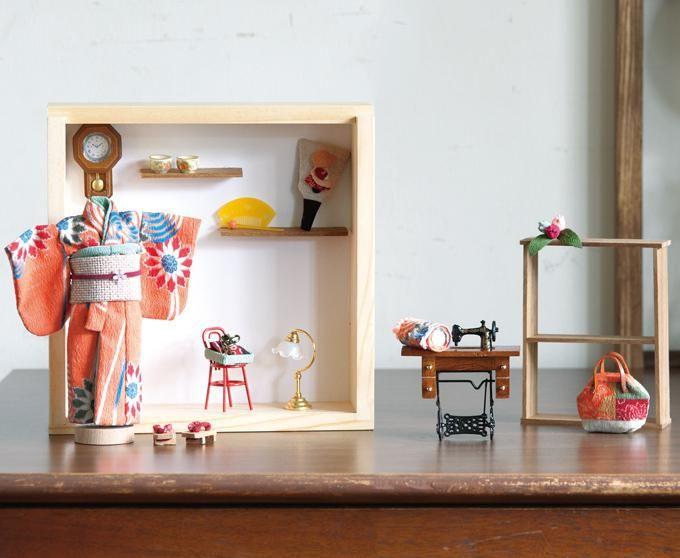 和布のドールハウスに最適 ミニチュアの和小物の作り方 ぬくもり ドールハウス ミニチュア ドールハウス ミニチュア