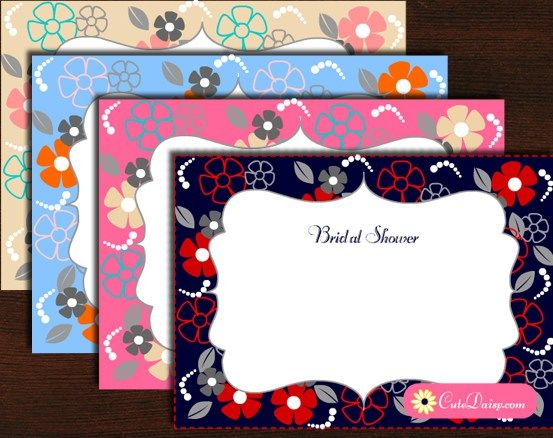 Free Printable Floral Bridal Shower Invitations