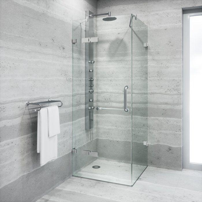 Monteray 32 W X 73 38 H Square Hinged Shower Enclosure Shower Enclosure Simple Bathroom Remodel Shower Doors