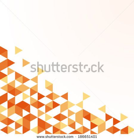 summer orange triangle pattern background (vector) - stock vector