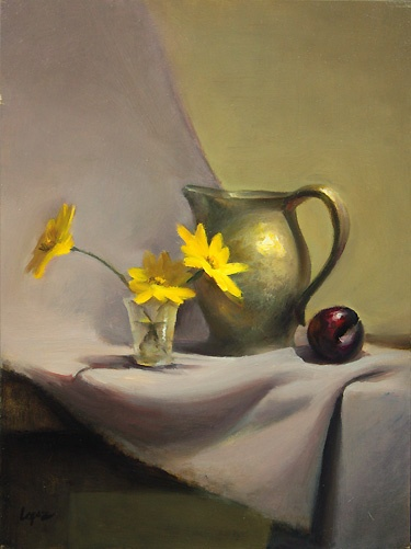 Leah Lopez :: Paintings :: Yellow and Plum