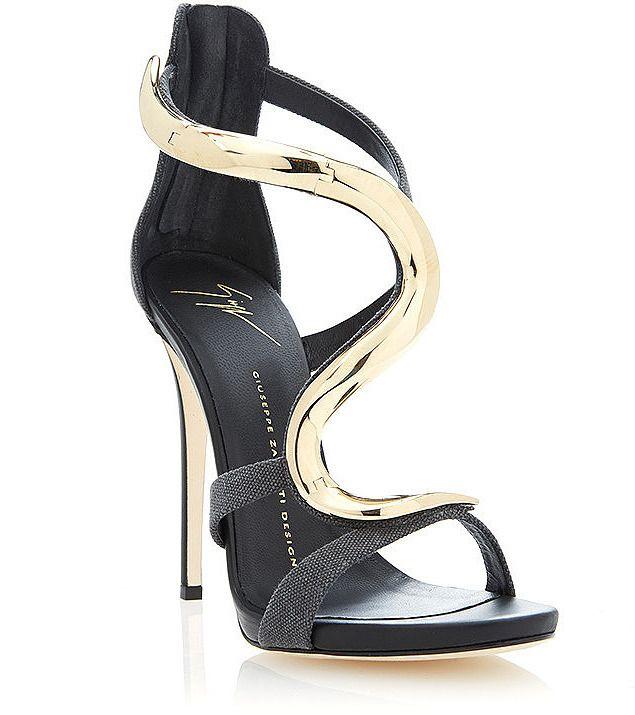 Giuseppe Zanotti Alien Metallic-Effect Snake Sandals