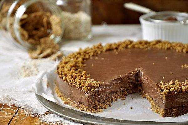 Τούρτα+σοκολάτας+με+γιαούρτι+και+δημητριακά