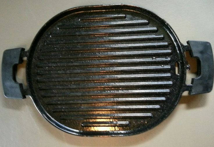Nuwave Cast Iron Bbq Grill Pan Only For Use With Precision