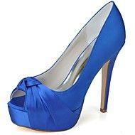 γυναικεία παπούτσια peep toe σατέν τακούνι στιλέτ... – EUR € 31.63