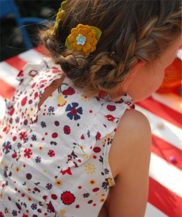 Summer Flowers Ruffle Top from Niddle Noddle