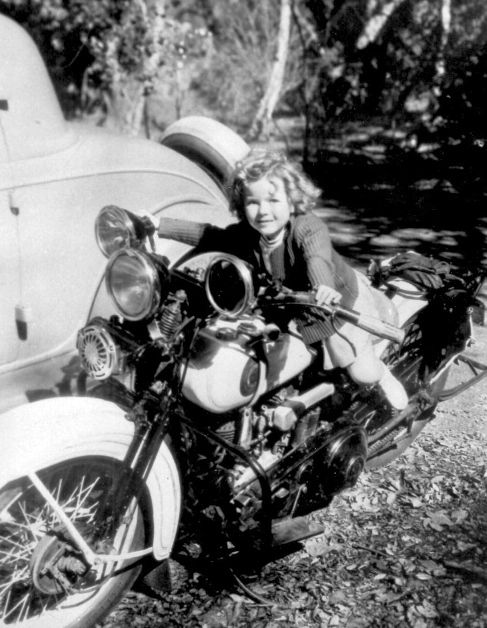 Our Little Girl on motorcycle 1935