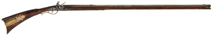 Lehigh Valley Attributed Flintlock Long Rifle with Relief Carved and Silver…
