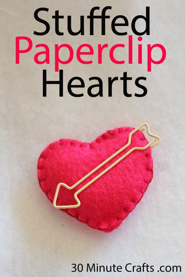 tutorial for stuffed paperclip hearts