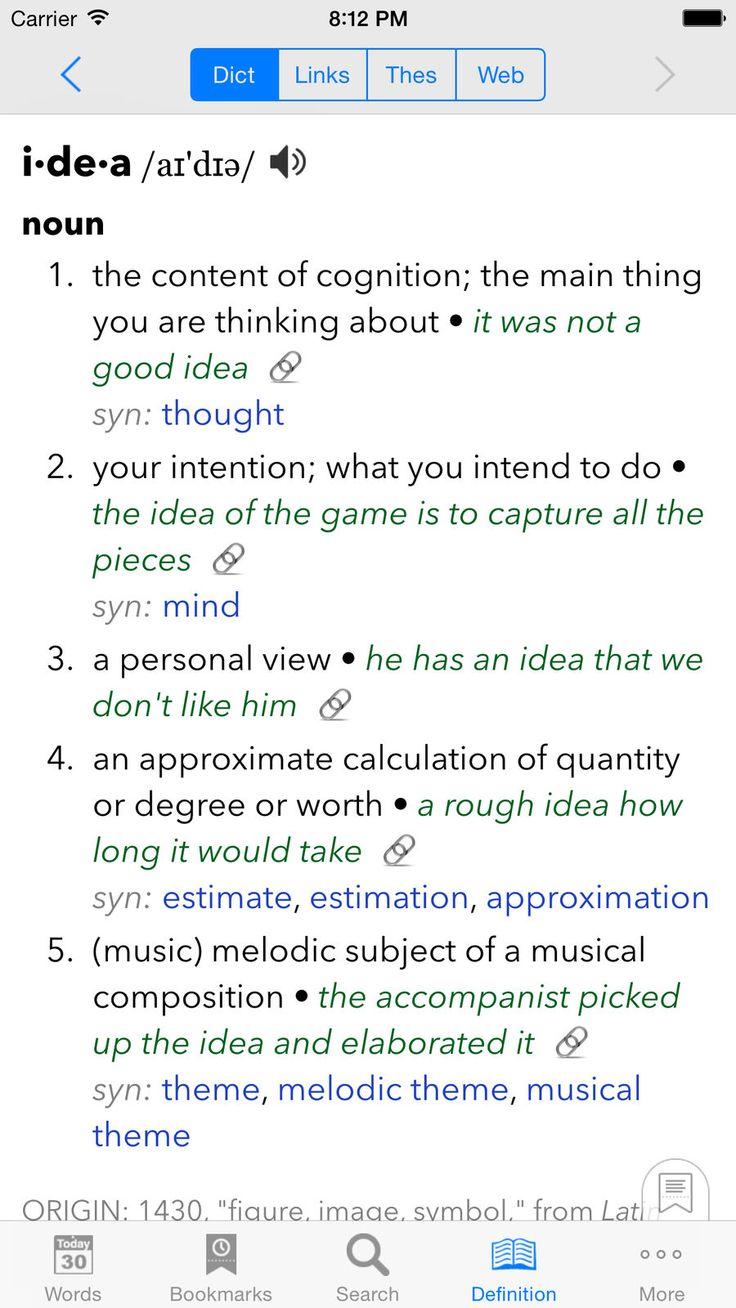 WordBook Dictionary EducationReferenceappsios App