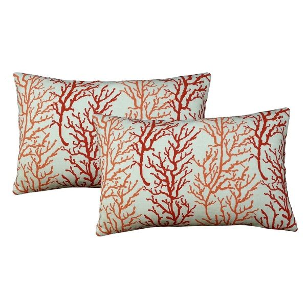Coral 20-inch Accent Pillows (2-pack)
