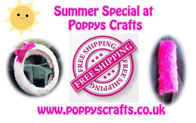 Free Shipping at Poppys Crafts all this summer !! http://ift.tt/1MdrObG  #freeshipping #giftideas #onlineshopping #caraccessories #steeringwheelcovers #freedelivery #freepostage #handmade #jeepaccessories #truckaccessories #seatbeltpads #mirrorcovers #fauxfur #fleece #cotton #carsofinstagram #handmadewithlove #smallbusiness #fun #funky #travelaccessories
