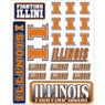 Illinois Fighting Illini Stickers-College Teams-Sports Theme Party-Theme Parties-Party City