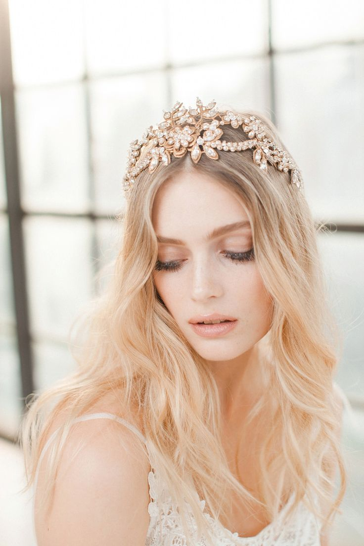 Swoon over jannie baltzer s wild nature bridal headpiece collection - Gold Pearl Hair Vine From Jannie Baltzer The Wild Nature Collection Love My