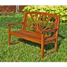 International Caravan Sapporo Wood Patio Bench