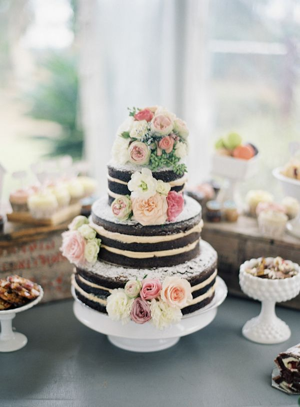 #naked #wedding #cake http://trendybride.net/naked-wedding-cakes-part-two/ trendy bride blog