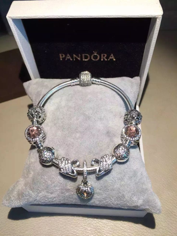 $239 Pandora Charm Bracelet Pink. Hot Sale!