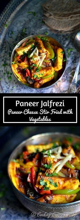 Paneer Jalfrezi - Paneer Stir Fried with Vegetables - Spicy with burst-in-your-mouth flavors in every bite, this Paneer Jalfrezi is a favorite amongst all! http://www.cookingcurries.com
