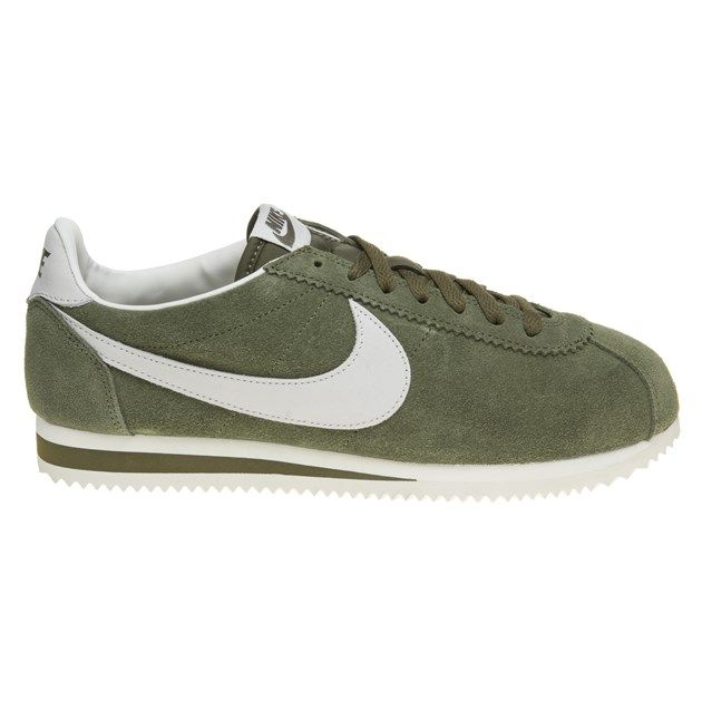 Mens Khaki Nike Cortez Leather Sneaker at Soletrader - United States
