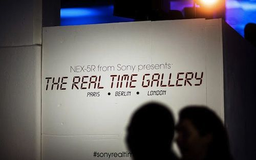 The Real Time Exhibition of digital photographs  http://designtaxi.com/news/354402/Sony-Holds-World-s-First-Real-Time-Digital-Photography-Exhibition/?interstital_shown=1
