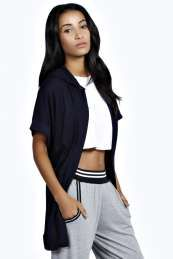 Lauren Short Sleeve Sporty Hooded Cardigan from #Boohoo on discounted price. Use promotional Codes and coupon Codes.
