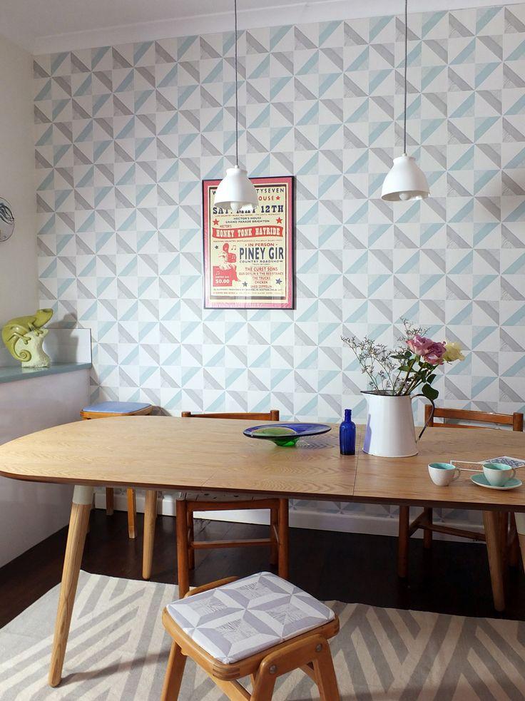 Designer Wallpapers And Fabrics Chalk Tile Wallpaper