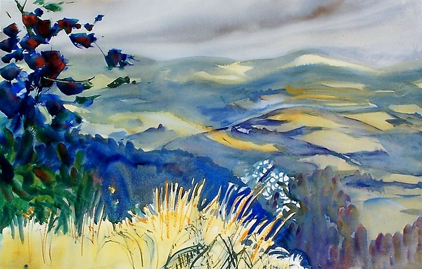 Alix Travis is a watercolorist who paints intuitively; she never sketches!