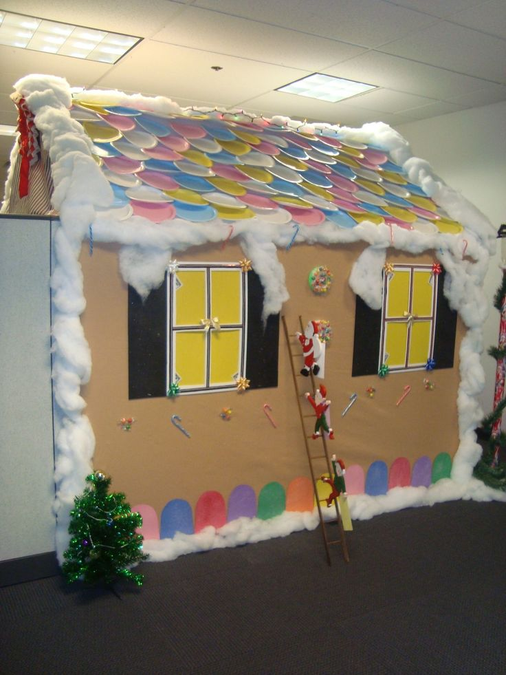 holiday cubicle decorating at work lolpretty sure my co workers already think im crazy op - Halloween Office Decorations