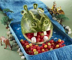 hippo melon art