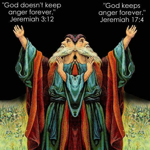 Does god keep anger forever? The bible says yes and no.