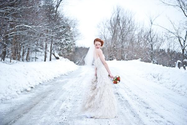 The Snowy Bride, AMBphoto, Anne-Marie Bouchard. Rivini by Rita Vinieris.