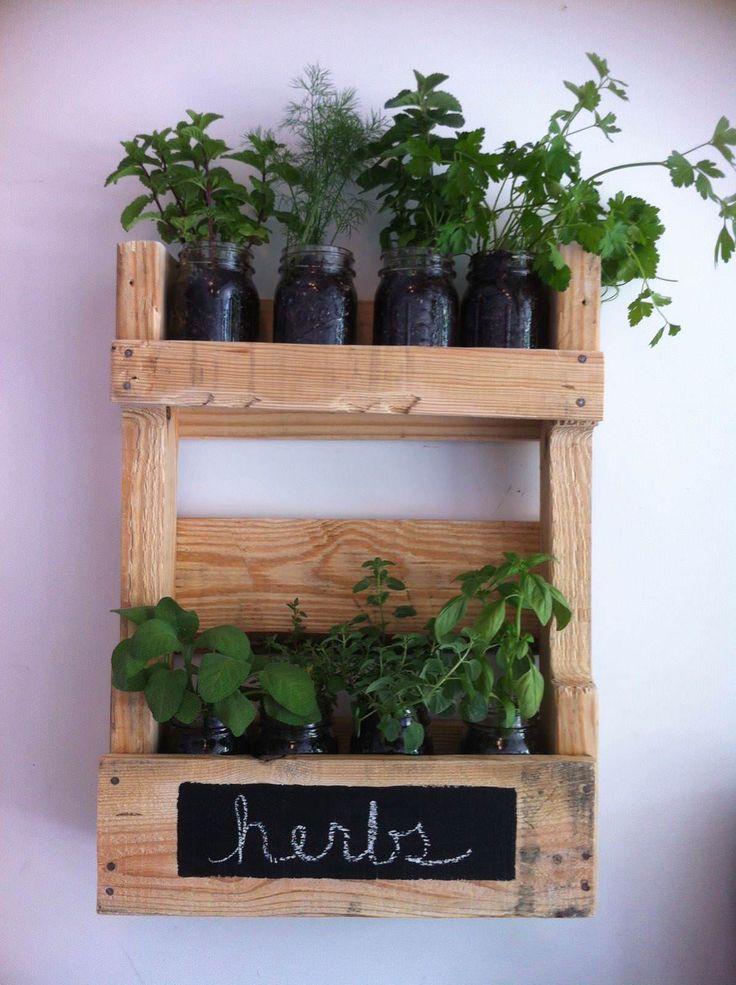 Pallet Wall Herb Garden