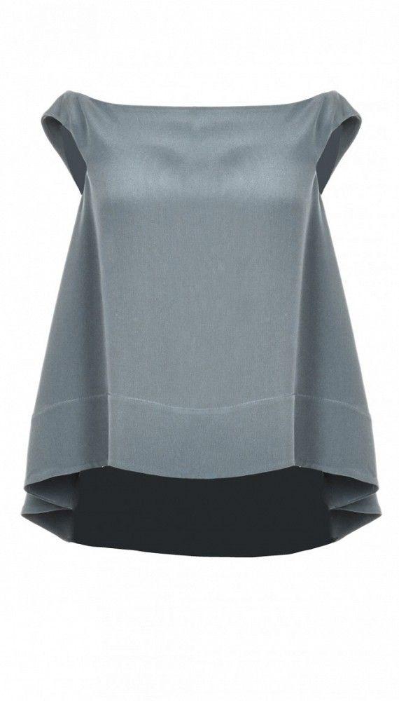 Tibi Silk Off-The-Shoulder Top