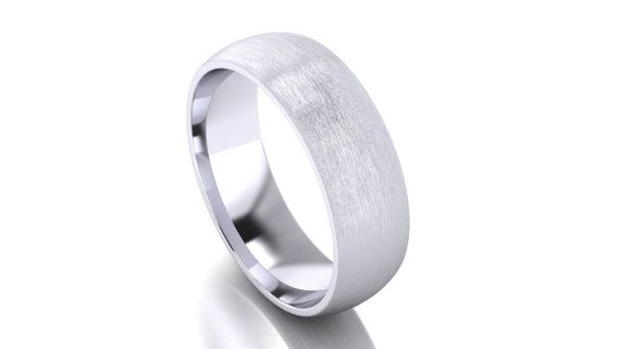 With no beginning or end, this traditional design is the perfect ring to symbolize the never ending and immortal love you share with one another.  The simple and practical design of the half round wedding band is a popular choice for daily wear. Its easy to keep clean and preferred by those looking for a timeless look to last a lifetime.  ~ ~ ~Detailed Description~ ~ ~  Half Round Light Brush Surface Finish Wedding Ring  Metal: Solid Gold. Karat/purity: 14k (authentic stamped) Sizes: Al...