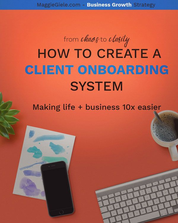 A step-by-step process to getting started with business systems, automation and organization. Especially useful for service-based business owners because it outlines a client on-boarding system, that can save you tons of time and effort.