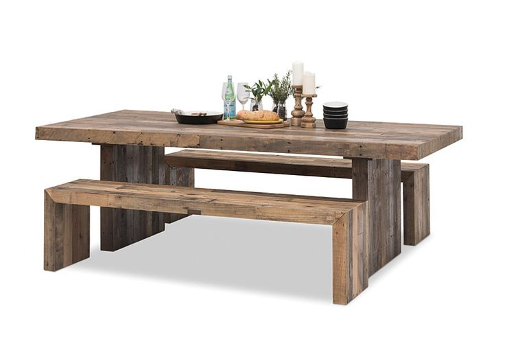 I love the rustic unfinished look and the benches make for a nice cosy meal. The benches are also quite versatile and could be used elsewhere in the home or garden. #superamartpin2win