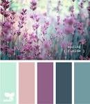 Lavender and teal. Great for a half bath. Master bed and bath colors?