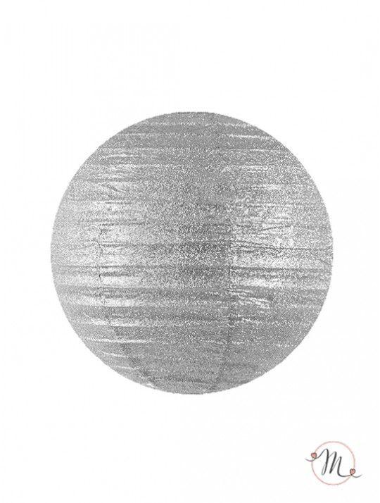 Lanterna decorativa di carta glitterata argento 25 cm. Ideali per allestire e decorare feste di ogni tipo. #matrimonio #weddingday #ricevimento #wedding #lanterne #decorazioni #sconti #offerta #carta #decorazioniincarta #weddingideas #ideasforwedding #plata #silber #glitter